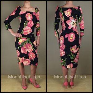 Dolce & Gabbana Dresses - New DOLCE & GABBANA Tulip Black Pencil midi dress